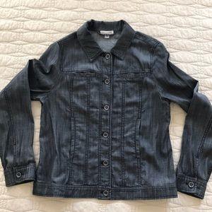 Eileen Fisher light weight black denim jacket